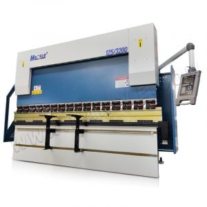 125t/3200mm CNC Hydraulic Press Brake Aluminum Window Frame Bender , DA52S  Hybrid Bending Machine