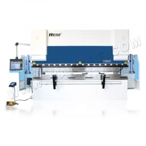 CNC Press Brake machine HS16037 Hybrid with Hydraulic Clamp and servo pump control, DA-66T controller