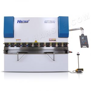 Manual crowning hydraulic press brake machine, bending deflection table, 63T/2500 with E21 controller