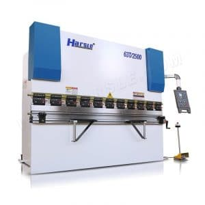 WC67K-63T2500 press brake machine with quick clamp, manual crowning system hydraulic bending machine