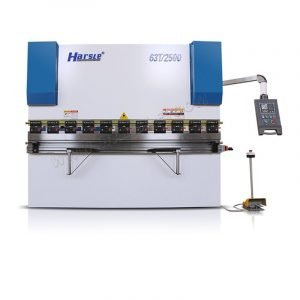 63T/2500 NC hydraulic press brake machine with manual crowning system