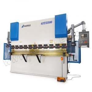 63T/2500 E21  metal sheet bending machine with manual crowning system, hydraulic press brake for 2mm 3mm steel